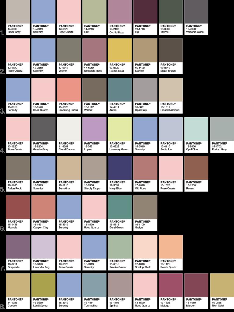 pantone palettes 2016