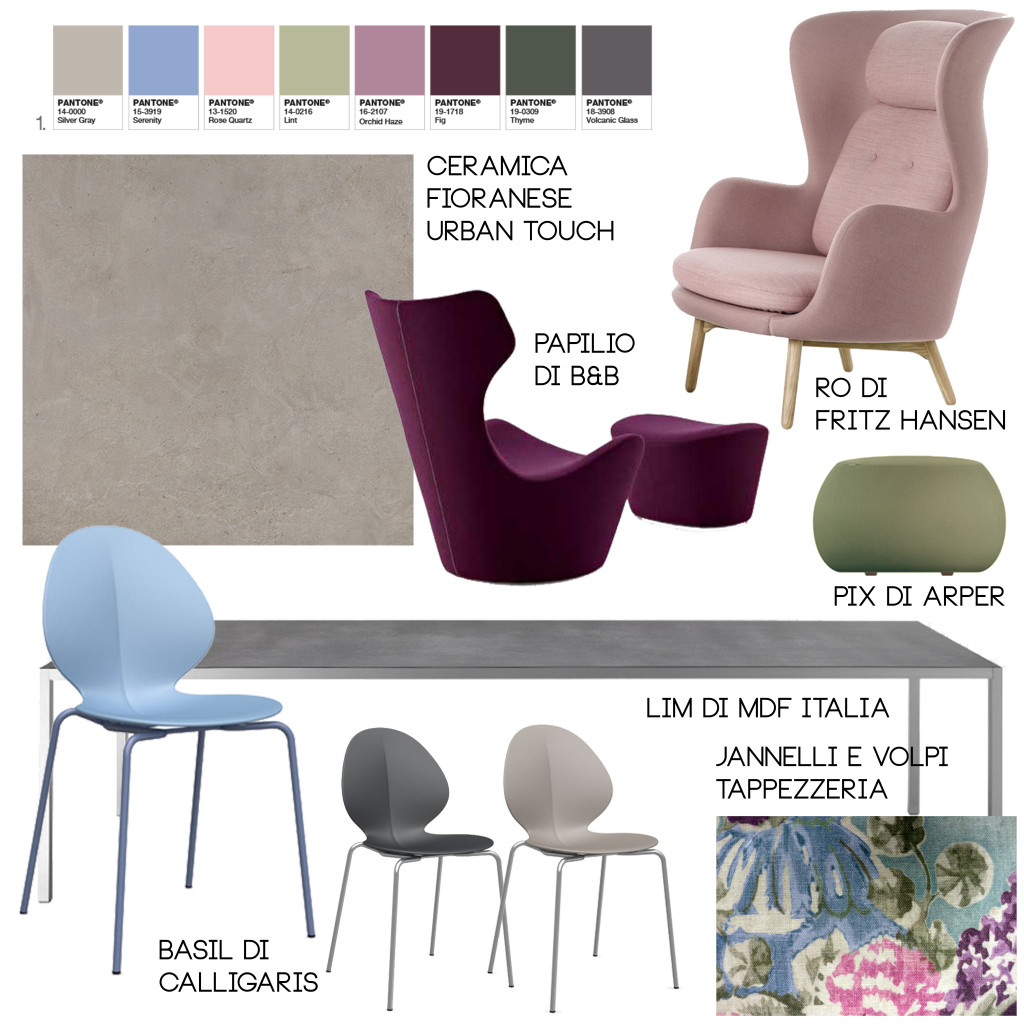 color palette pantone furnitures