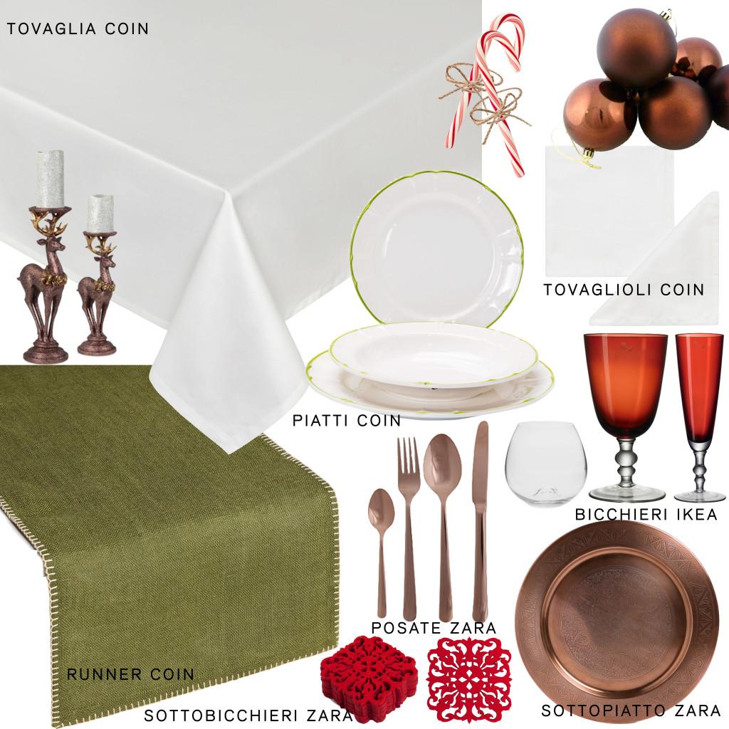 tavola verde bronzo